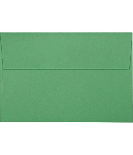 A8 Invitation Envelopes w/Peel & Press (5 1/2 x 8 1/8) - Holiday Green (50 Qty) | Perfect for Invitations, Announcements, Sending Cards, 5x7 Photos | 67211-50