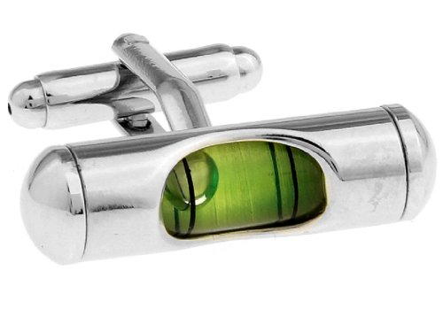 LBFEEL Classic Green Level Cufflinks for Mens Shirt with a Gift Box (Love An Engineer)