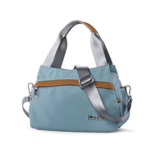 Small Handbags for Women Nylon Crossbody Purse Tote Bag with Zipper Pockets Lightweight Katloo (Light Green)