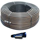 100 mt tubo ala gocciolante autocompensante in polietilene 16 passo 30 a goccia