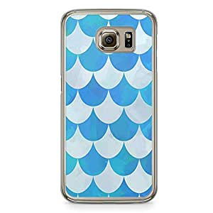 Samsung Galaxy S6 Transparent Edge Phone Case Pattern Rain Phone Case Blue Drops Pattern Samsung S6 Cover with Transparent Frame