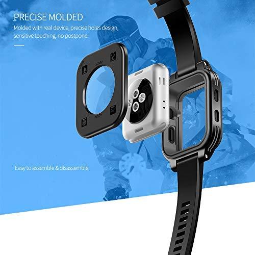 Waterproof Apple Watch Case 42mm, Waterproof Case for Apple Watch Generations 3&2, Ip68 Waterproof Dust-Proof Shockproof Case with Watchband Black by Homegician (Image #4)