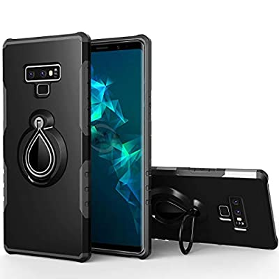 Galaxy Note 9 Case,SQMCase Heavy Duty Hybrid Armor Shockproof Cover with Water Drop Shape Ring Holder Kickstand [Work with Magnetic Car Mount] for Samsung Galaxy Note 9