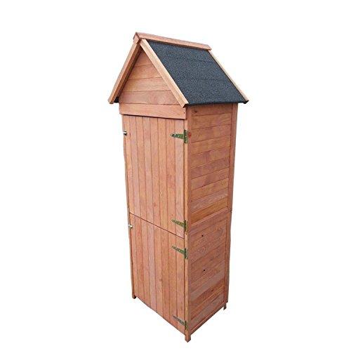 Moorland® Garten-Haus Gerätehaus aus Holz - Geräte-Schuppen 192x66x47cm (HxBxT) mit Spitzdach witterungsbeständig