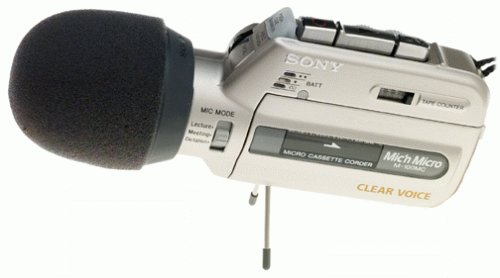 Sony M-100MC Microcassette Recorder with Voice Operated Recording