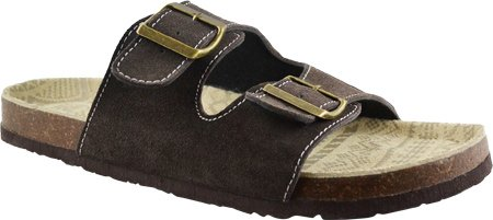 Muk Luks Men's Parker Duo Strapped Sandal, Brown, 10 M