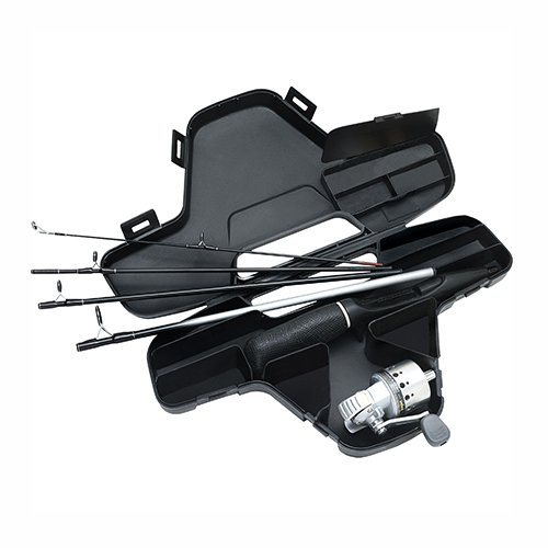 Daiwa Spincast Reels - Daiwa Minisystem Minicast Ultra-Compact Spincast Reel and Rod Combo in Hard Carry Case