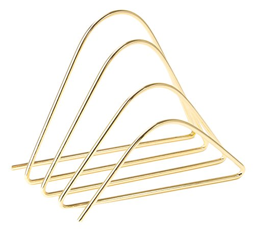 U Brands Desktop Letter Sorter, Wire Metal, Gold