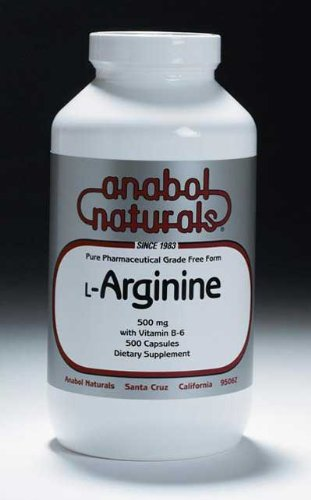 Anabol Naturals L-Arginine 500 mg, 2000 Capsules by Anabol Naturals