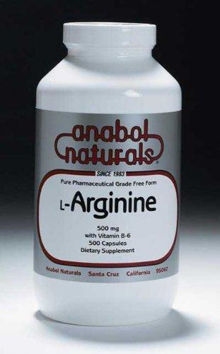 Anabol Naturals L-Arginine 500 mg, 1000 Capsules