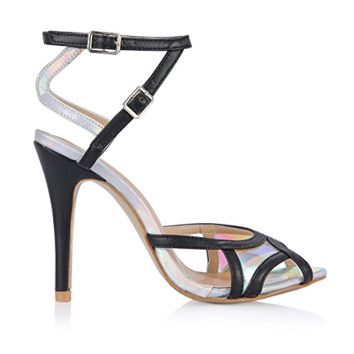 New Summer sandals female model show show the high-heel shoes fine silver pomfret tip women shoes Black Hfuc9n3