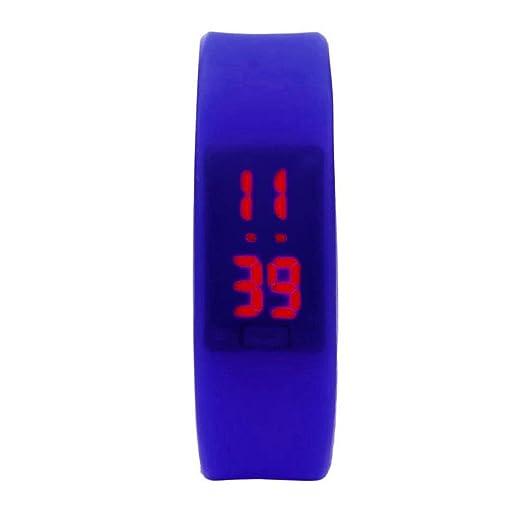 FAMILIZO Reloj de goma LED Fecha Deportes reloj digital pulsera: Amazon.es: Relojes