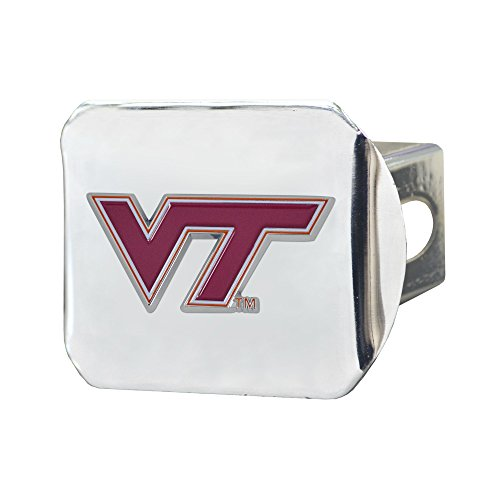 Hitch Tech Cover Virginia (Fanmats NCAA Virginia Tech Hokies Virginia Techcolor Hitch - Chrome, Team Color, One Size)