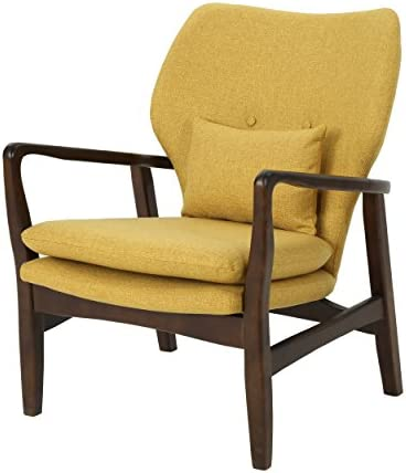 Christopher Knight Home Ventura Mid Century Modern Fabric Club Chair