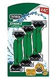 Schick Xtreme 3 Sensitive Skin, Comfortable & Flexible 3 Blade Disposable Razor - 24 Count