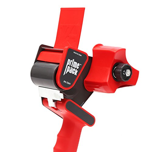 -  PRIMEPACK Packing Tape Dispenser Gun | Industrial Quality Metal Housing - Easy Side Loading Design - Durable and Ergonomic for Shipping, Packaging and Moving