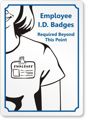amazon com employee id badges required beyond this point plastic