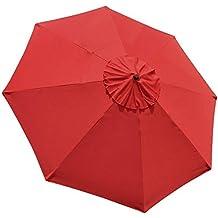 EliteShade 9ft Replacement Patio Umbrella Market Table Outdoor Umbrella Canopy 8 Ribs (Red)