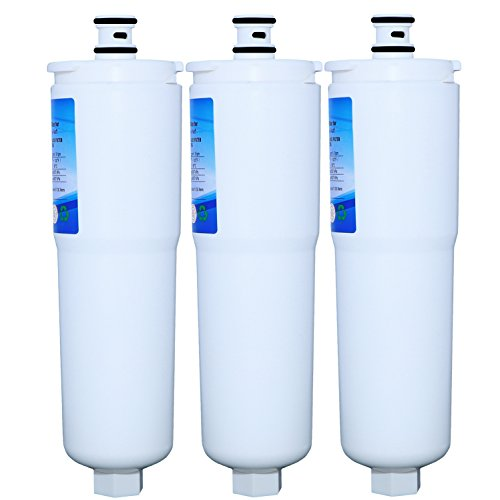 EXCLEPURE Premium CS-52 Refrigerator Water Filter Replacement For Bosch CS450, CS-51, CS-52, CS562, Comparable W/ RWF1100, WSB-1, 5586606, 5586605, WHCFR-PLUS And WHKF-IMPLUS - 3PACK (Whirlpool Inline Water Filter Whkf R Plus)