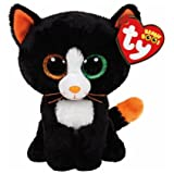 Ty Beanie Boos Halloween Midnight Owl, FRIGHTS Cat and GRIMM Ghost Set of 3 Scary Friends with Bonus Pumpkin Sticker