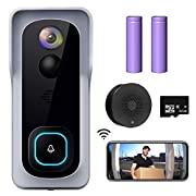 #LightningDeal WiFi Video Doorbell Camera, XTU Wireless Doorbell Camera with Chime, 1080P HD, 2-Way Audio, Motion Detection, IP65 Waterproof, Cloud Storage and 32GB SD Card Included