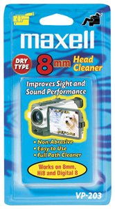 Maxell 8mm Dry Video Head Cleaner (VP-203)
