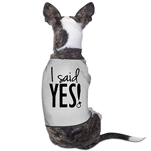 [YRROWN I SAID YES Bride 1 Puppy Dog Clothes] (Bride Of Frankenstein Costume Plus Size)