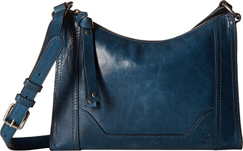 FRYE Melissa Zip Leather Crossbody Bag, peacock