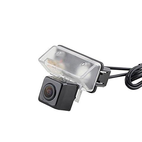 Sincere easy install DIY Back up Night Vision Camera license plate light Mount High Waterproof grade for Toyota COROLLA Verso Camry YARIS LAND CRUISER (Jaguar Av Cable)