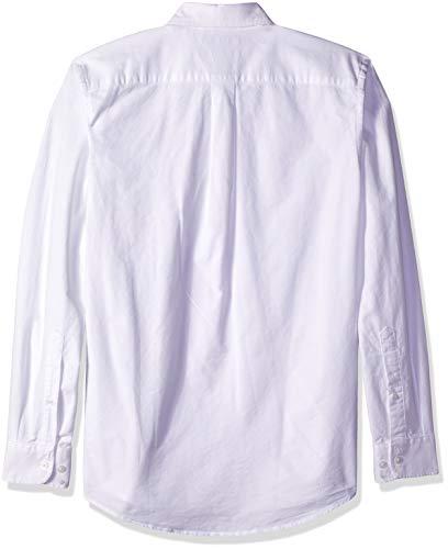 Oxford Essentials white Whi Solid sleeve Slim Long Blanc Pocket fit Amazon 0nUq1gw