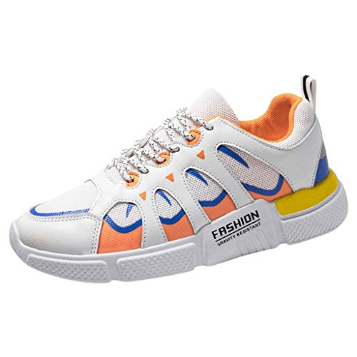 Haalife◕‿Men's Low Top Casual Athletic Running Sneakers Fashion Soft Sole Lightweight Sports Walking Tennis Shoes White