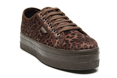 Print 09228 Animal Zapatillas Mujer Cuero Blucher Victoria Plataforma xBXUwqRZ