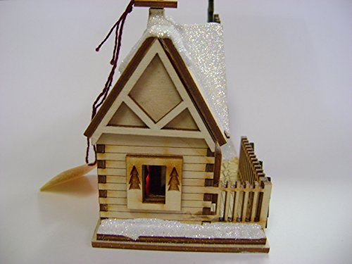 Ginger Cottages - Santa's Ski Lodge GC126, Miniature Collectable building for Christmas and holiday displays. Wood table top display or ornament. Hand crafted in the Richmond Virginia, USA area. by Ginger Cottages (Image #2)