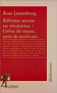 Réforme sociale ou révolution ? par Rosa Luxembourg