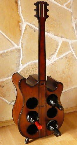 DanDiBo Wine rack Bottle rack Bottle stand E-Guitar made of wood 102 cm No. 1859