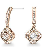 Mestige Women Glass Rose Gold Elina Earrings with Swarovski Crystals