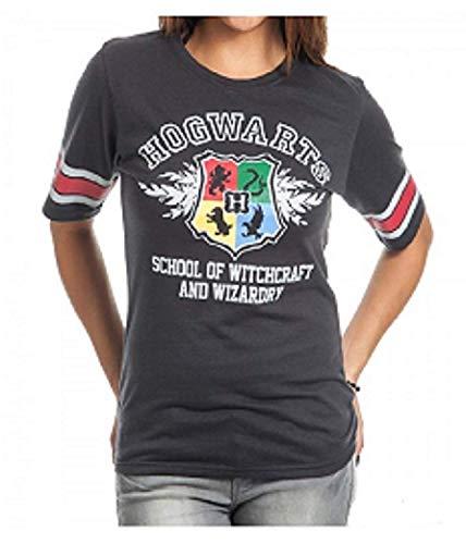 Bioworld Harry Potter Hogwarts Juniors Black Hockey T-Shirt (XXX-Large)]()