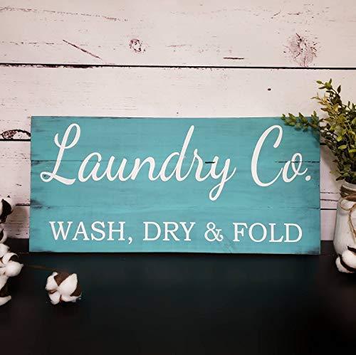 Brosfeson Laundry Co Letrero Shabby Chic para decoración de ...