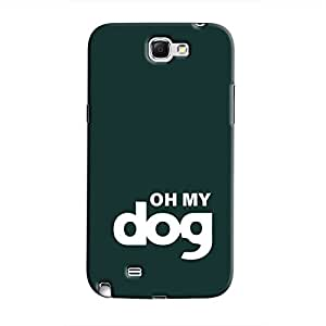 Cover It Up - Oh My Dog Dark Galaxy Note 2 N7100 Hard Case