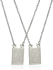 Men's Stainless Steel Mini Religious Necklace,