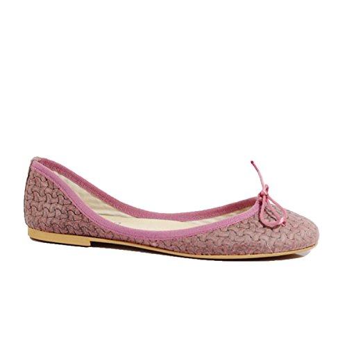 Ovye by Cristina Lucchi Damen Sofia Ballerinas Echtes Leder Hand Made in Italy Pink