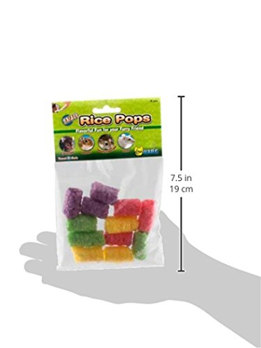 Hamster Wheel 8 inch Transoniq Wodent Wheel Junior, Black with Lavender Track and Ware Rice Pops-Small Animal Treat by CritterTyme (Image #4)