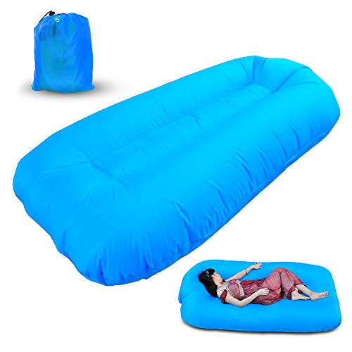 Refial Inflatable Lounger Chair, Air Sofa Mattress, Easy to Inflate and Puncture Resistant, Lightweight, Suitable for Outdoor, Swimming Pool, Beach, Camping, Festival ()