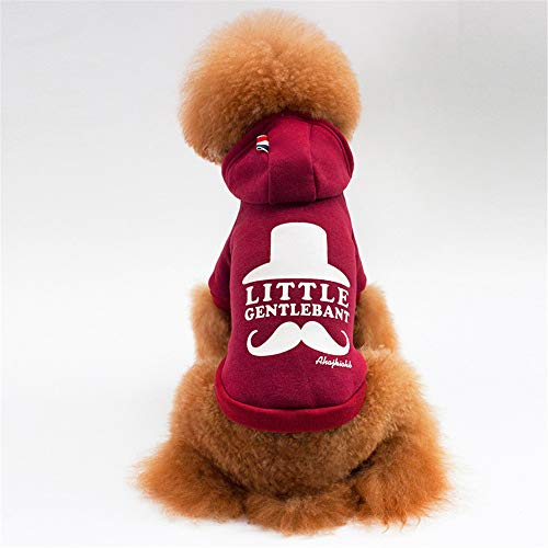 Jdogayncat Pet Clothing, Small Dog Personality Sweater Red Wine Gray Dog  Clothes Wine red]()