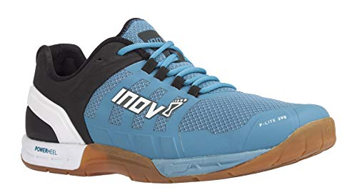 Inov-8 Womens F-Lite 290 - Ultimate Cross Training Shoes - Power Heel - Performance Trainer for Gym and Weight Lifting - Blue Grey/White 7.5 W US