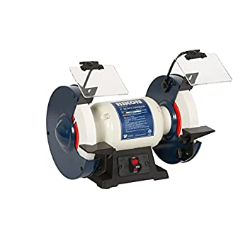 """Image of Bench Grinders Rikon Professional Power Tools, 80-805, 8"""" Slow Speed Bench Grinder, Powerful Shop Table Tool, Perfect for Sharpening, With Anti-Vibration Rubber Feet"""