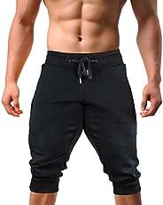 EKLENTSON Men's Jogger Pants High Elasticity Elastic Waist Gym Workout Running Sweatpants with Poc