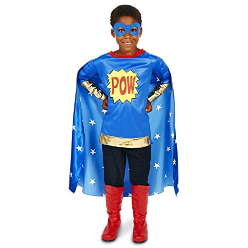[Pop Art Comic Super Hero POW Boy Child Costume S (4-6)] (Comicbook Costumes)