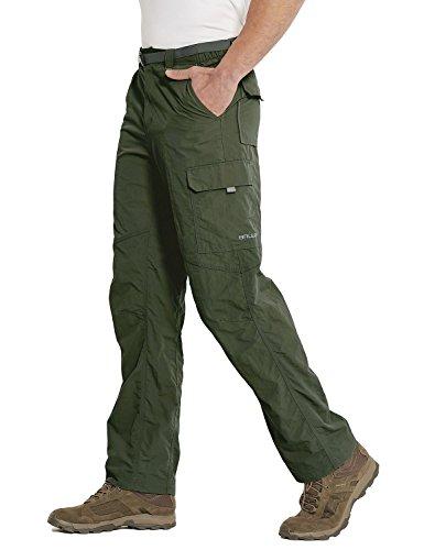 Baleaf Men's Quick Dry UPF 50+ Cargo Camo Pants Army Green 34W by Baleaf (Image #4)