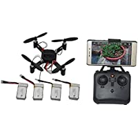 Blomiky DM002 DIY 2.4GHz FPV Mini Quadcopter Drone with Wifi Camera Altitude Healess Extra 3 Battery DM002